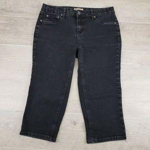 Womens Earl Jeans Black Capris Sz 6